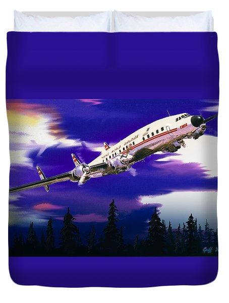 The Queen Of The Fleet Leaving Seattle Duvet Cover