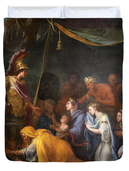 The Queens Of Persia At The Feet Of Alexander Duvet Cover