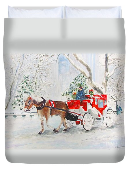 The Quiet Ride Duvet Cover by Beth Saffer