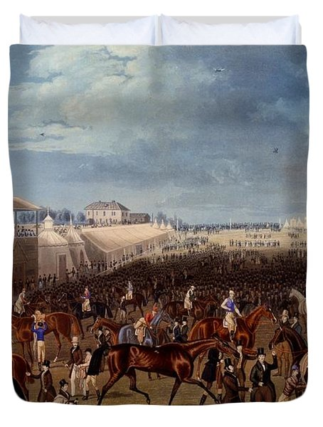 The Race Over, Print Made By Charles Duvet Cover