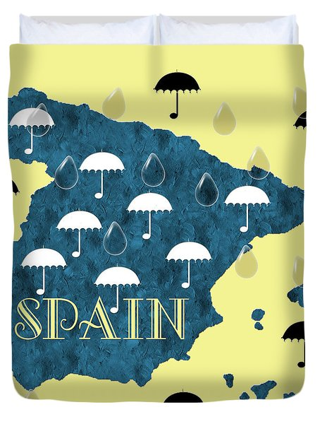 The Rain In Spain Duvet Cover