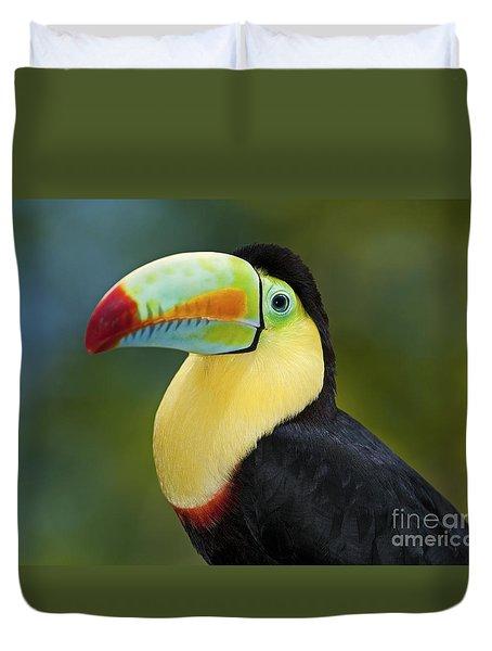 The Rainbow Bird.. Duvet Cover by Nina Stavlund