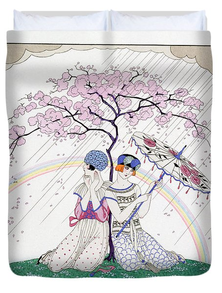 The Rainbow Duvet Cover by Georges Barbier