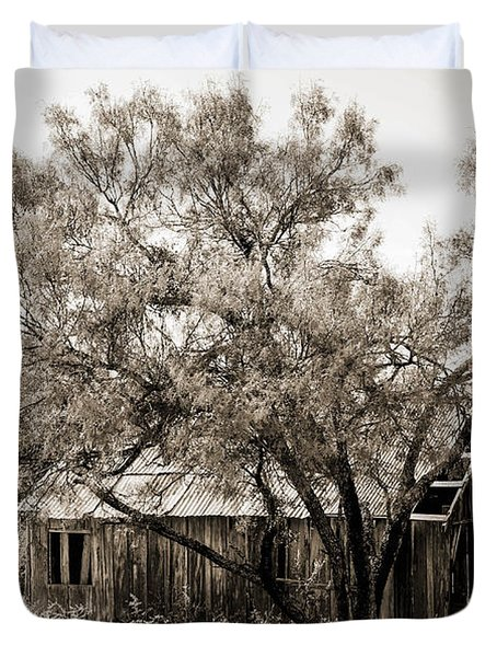 Duvet Cover featuring the photograph The Ranch  by Amber Kresge