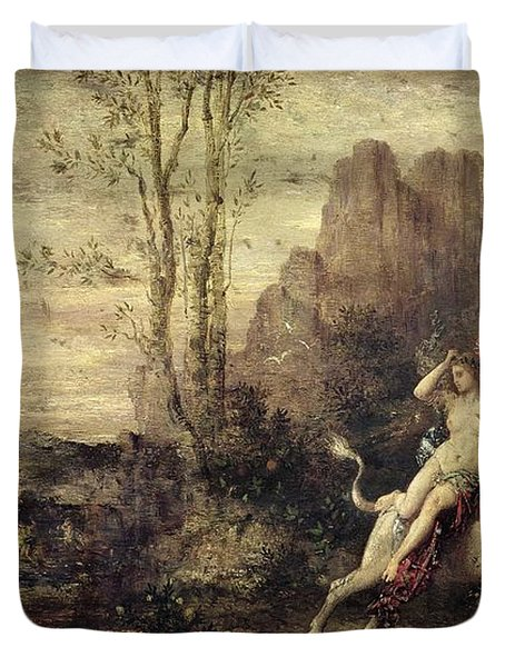 The Rape Of Europa Duvet Cover by Gustave Moreau