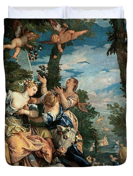 The Rape Of Europa Duvet Cover by Veronese