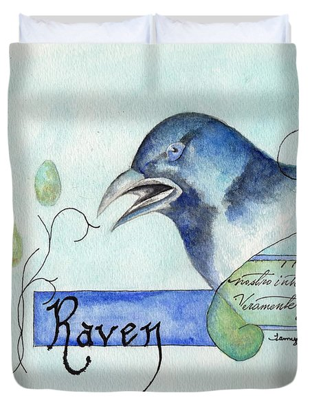 The Raven Duvet Cover by Tamyra Crossley
