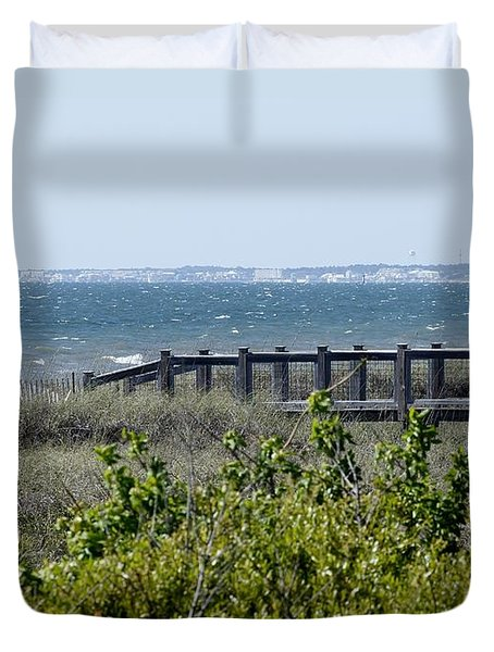 Duvet Cover featuring the photograph The Real Gulf Coast by Debra Forand