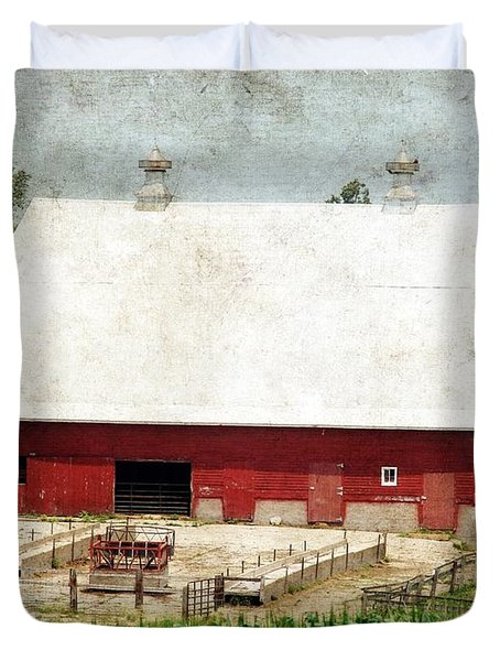 The Red Barn Duvet Cover by Cassie Peters
