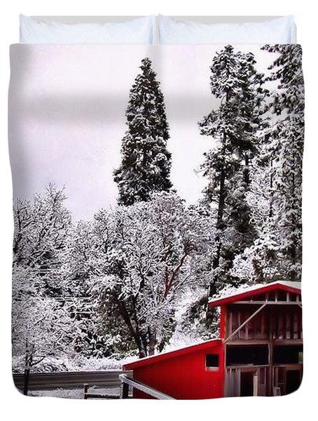 The Red Barn Duvet Cover