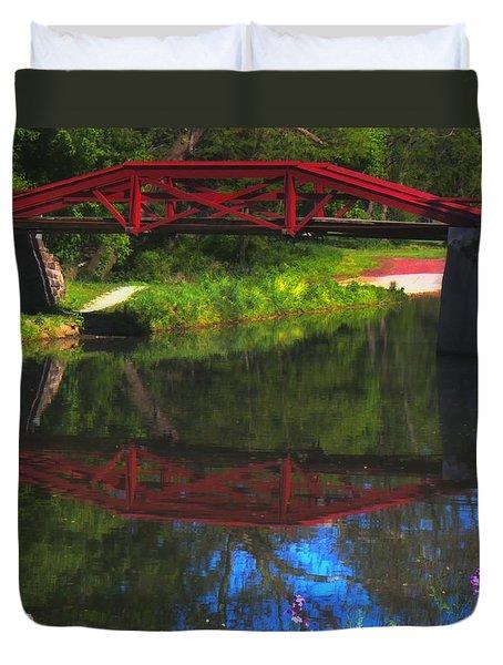 The Red Bridge Duvet Cover