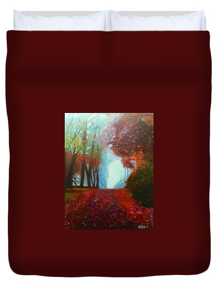The Red Cathedral - A Journey Of Peace And Serenity Duvet Cover by Belinda Low