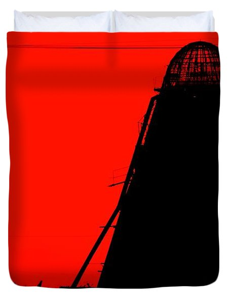 The Red Mill Duvet Cover by Jessica Shelton