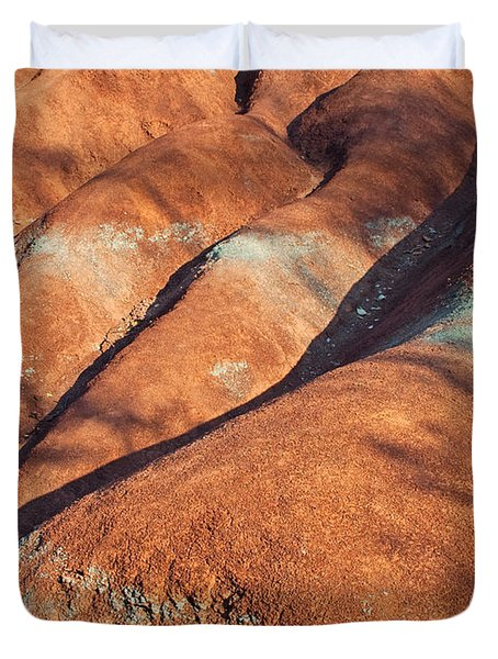 The Red Planet Duvet Cover by Barbara McMahon