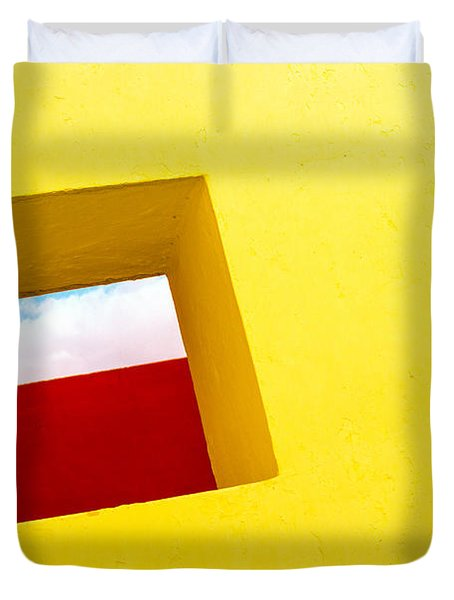 the Red Rectangle Duvet Cover