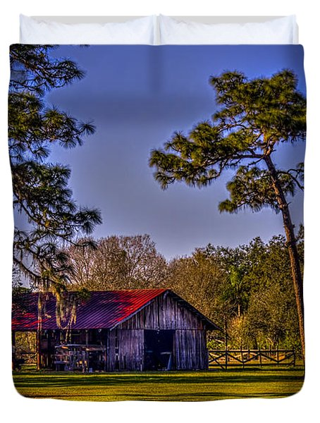 The Red Roof Barn Duvet Cover by Marvin Spates