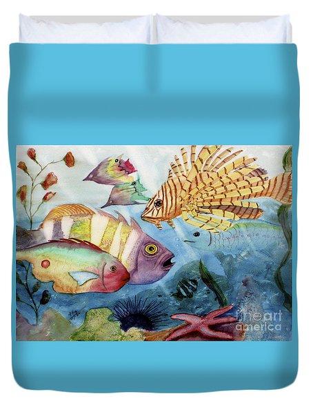 The Reef Duvet Cover by Mohamed Hirji