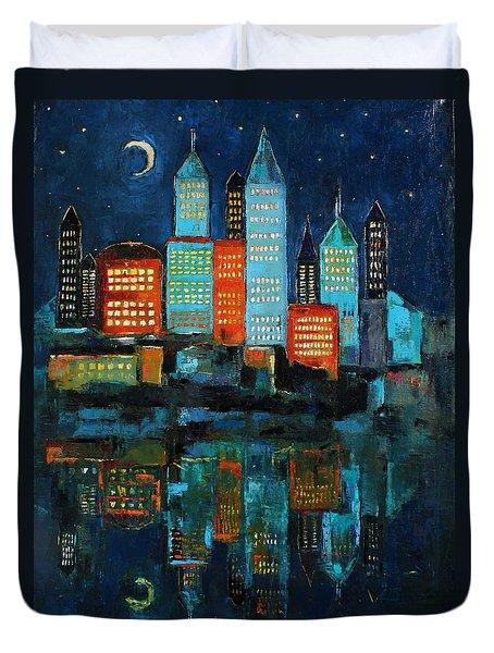 The Restless Moon Duvet Cover by Becky Kim