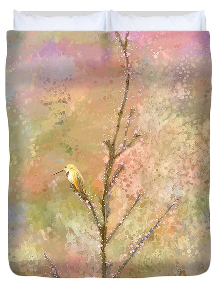 The Restlessness Of Springtime Rest Duvet Cover by Angela A Stanton