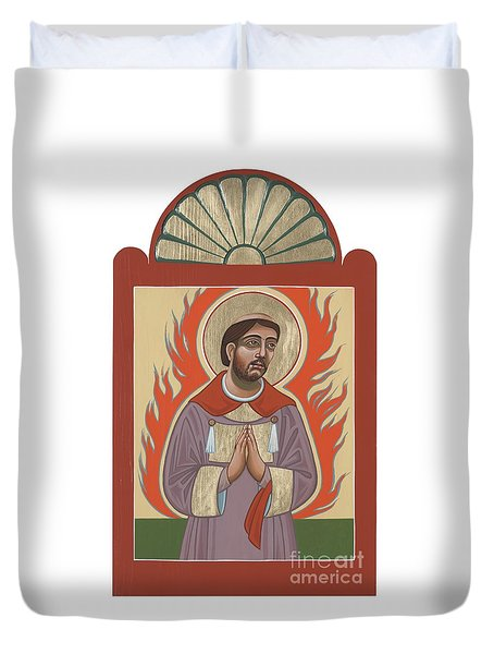Duvet Cover featuring the painting The Retablo Of San Lorenzo Del Fuego 253 by William Hart McNichols