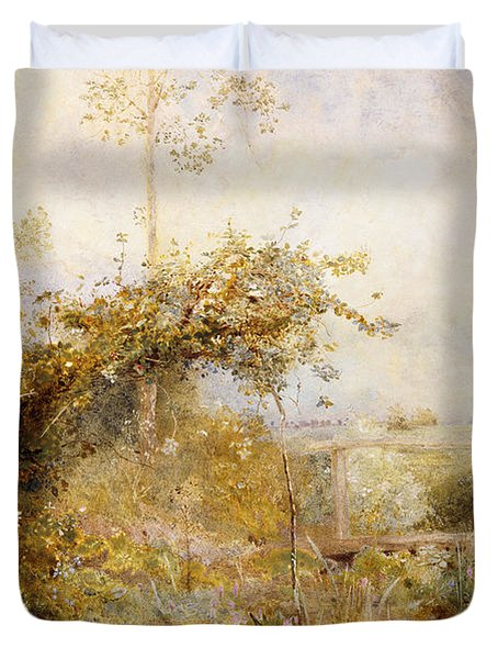 The Return From The Harvest Field Duvet Cover by John William North