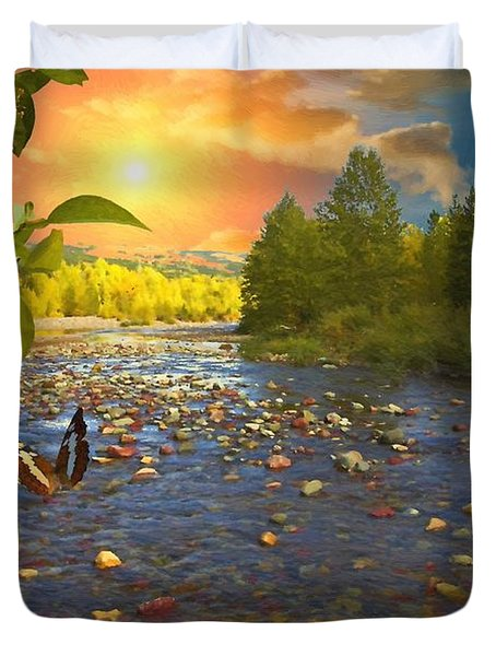 The Riches Of Life Duvet Cover