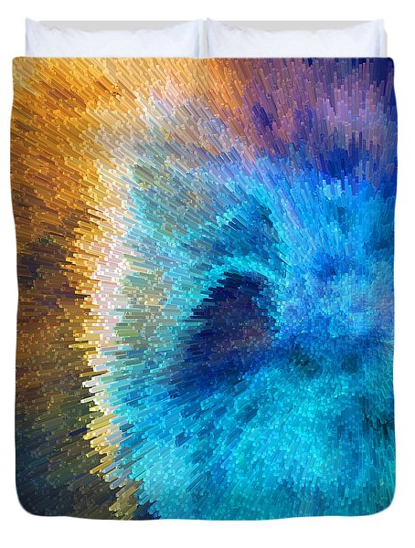 The Right Direction - Abstract Art By Sharon Cummings Duvet Cover by Sharon Cummings