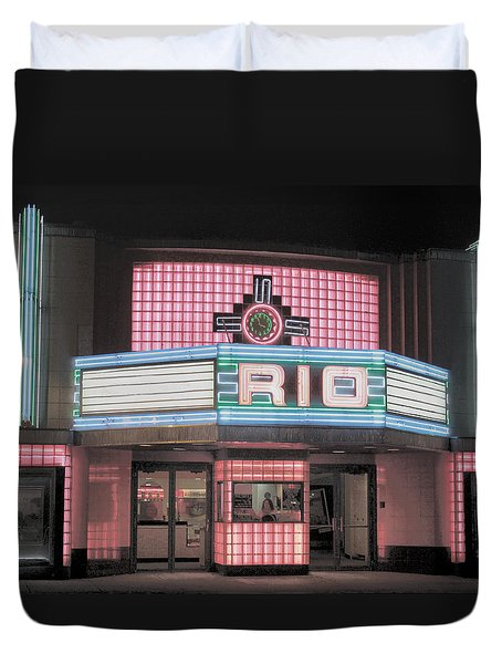 The Rio At Night Duvet Cover