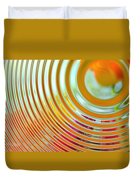 The Ripple Effect Duvet Cover by Mary Machare