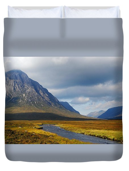 Duvet Cover featuring the photograph The River Runs Through It by Wendy Wilton