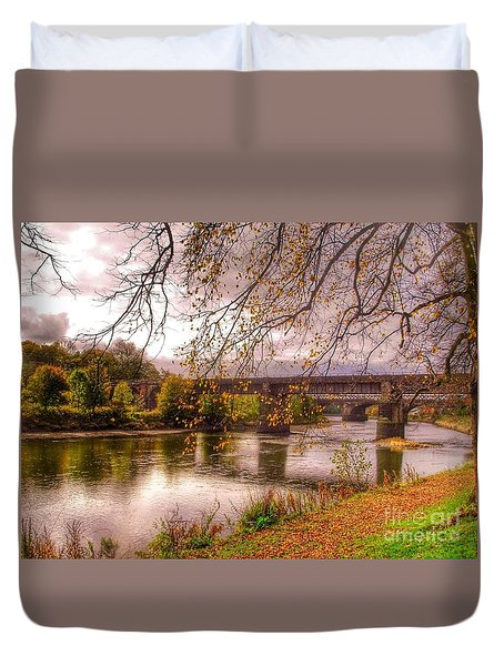 The Riverside At Avenham Park Duvet Cover