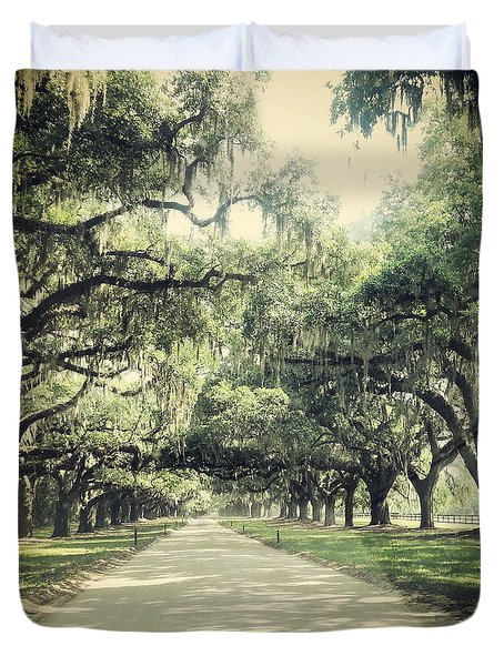 The Road From Boone Hall Duvet Cover