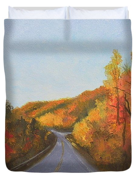 The Road Home Duvet Cover by Sherri Anderson