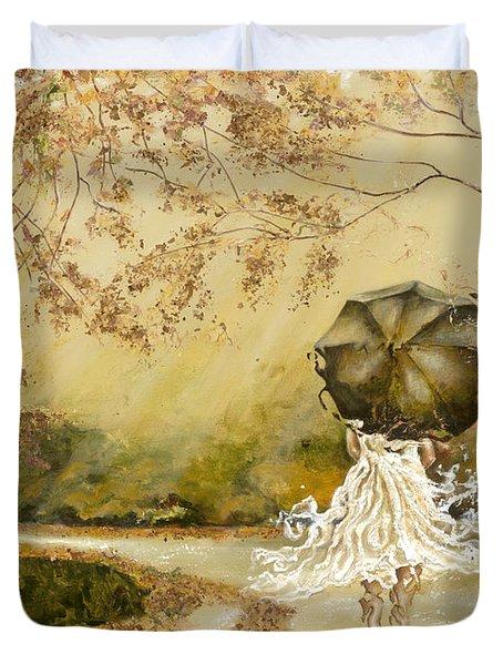The Road Duvet Cover by Karina Llergo