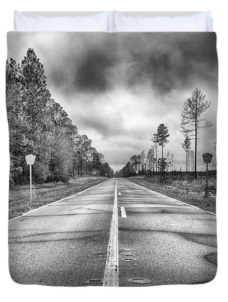 The Road Less Traveled Duvet Cover by Howard Salmon