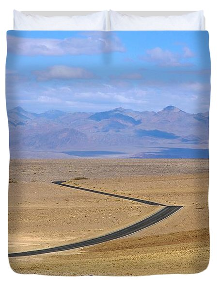 Duvet Cover featuring the photograph The Road by Stuart Litoff