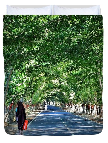 The Road To Amarkantak - Amarkantak India Duvet Cover by Kim Bemis
