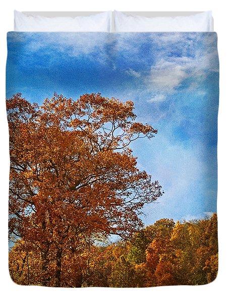 The Road To Autumn Duvet Cover by Kim Hojnacki