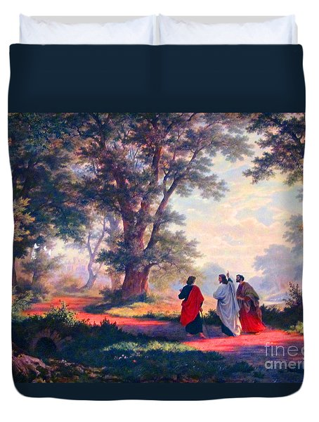 The Road To Emmaus Duvet Cover