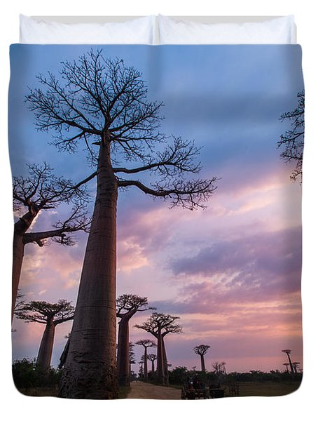 The Road To Morondava Duvet Cover
