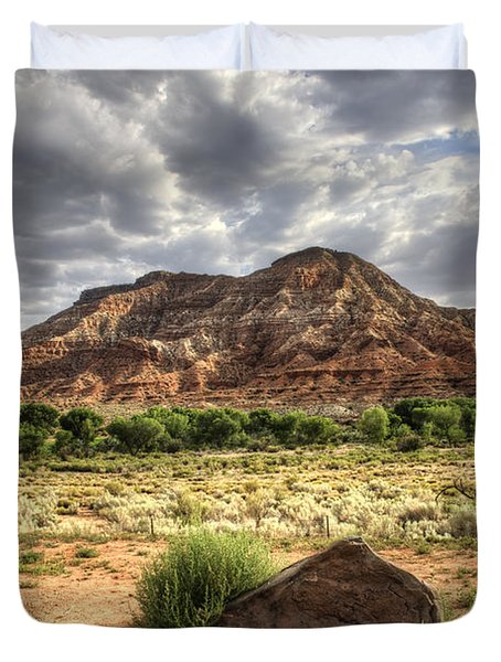 Duvet Cover featuring the photograph The Road To Zion by Tammy Wetzel