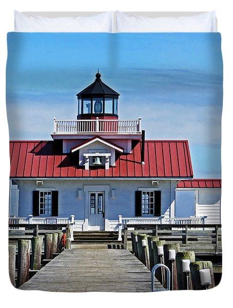 The Roanoke Marshes Lighthouse  Duvet Cover