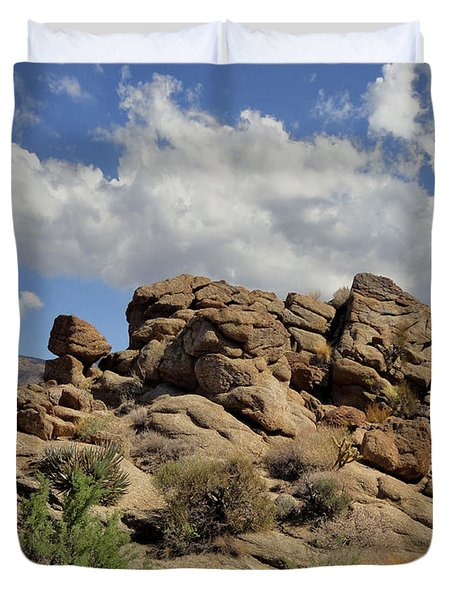 Duvet Cover featuring the photograph The Rock Garden by Michael Pickett