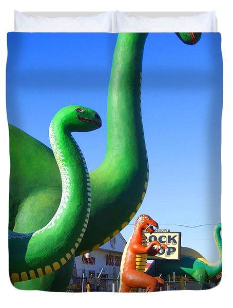 The Rock Shop Just Off Route 66 Duvet Cover by Mike McGlothlen