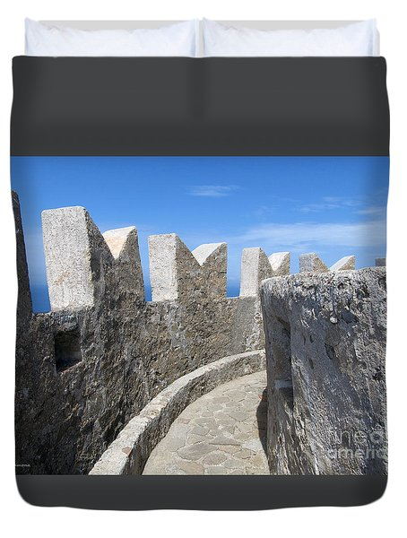 Duvet Cover featuring the photograph The Rocks And The Path by Ramona Matei