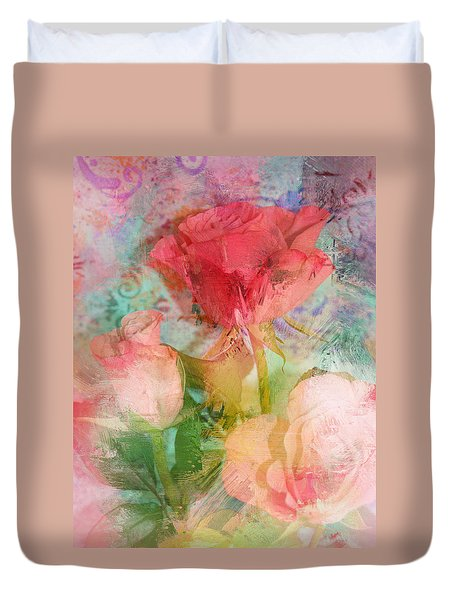 The Romance Of Roses Duvet Cover