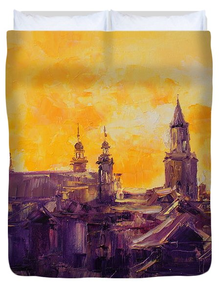 The Roofs Of Lublin Duvet Cover
