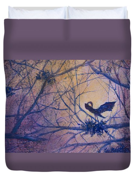 The Rookery Revisited Duvet Cover by Lee Beuther