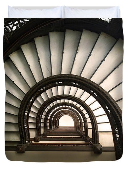 The Rookery Staircase Lasalle St Chicago Illinois Duvet Cover