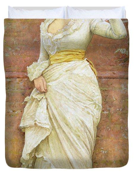 The Rose Duvet Cover by Edward Killingworth Johnson